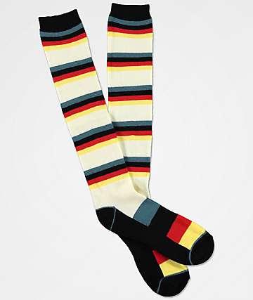 Aperture Highlight Black & Cream Snowboard Socks