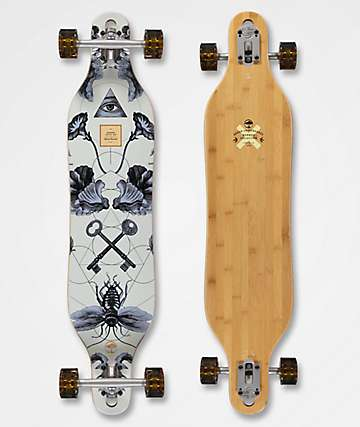 """Arbor Axis Bamboo Collection 40"""" Drop Through Longboard Complete"""