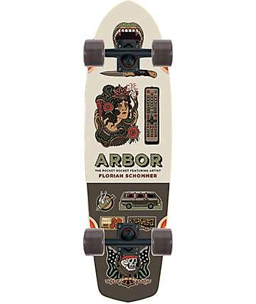 """Arbor Pocket Rocket AC 26"""" Cruiser Complete Skateboard"""