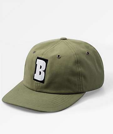 Baker Capital B Olive 6 Panel Hat