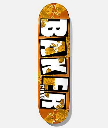 "Baker T-Funk Rose Gold 8.475"" Skateboard Deck"