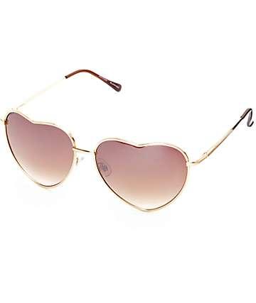 Big Luv Gold Sunglasses