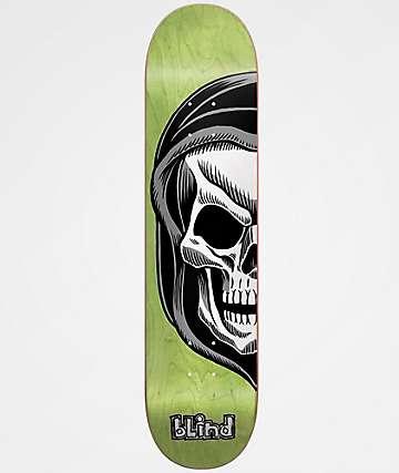 """Blind Reaper Split 8.0"""" Lime Skateboard Deck"""