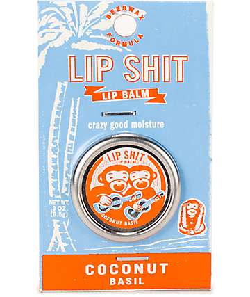 Blue Q Lip Shit Coconut Basil Lip Balm