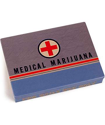Blue Q Medical Marijuana Tin Pocket Box