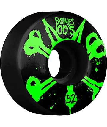 Bones 100s Black 52mm Skateboard Wheels