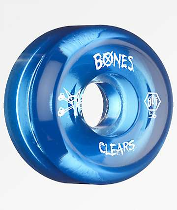 Bones Clear Blue SPF 56mm 104a Skateboard Wheels
