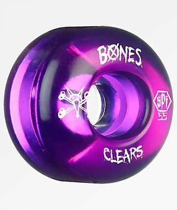 Bones Clear Purple SPF 55mm 104a Skateboard Wheels