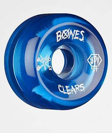 Bones SPF Clear Blue 54mm 104a Skateboard Wheels