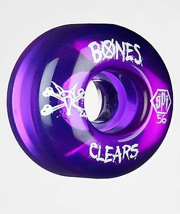 Bones SPF Clear Purple 56mm 104a Skateboard Wheels