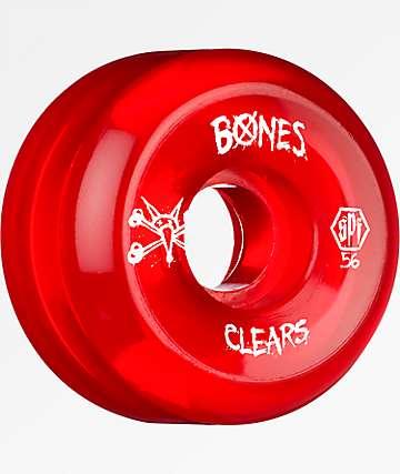 Bones SPF Clear Red 56mm Skateboard Wheels
