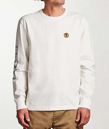 Brixton Fang White Long Sleeve T-Shirt