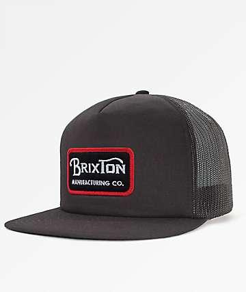 Brixton Grade Mesh Black Snapback Hat