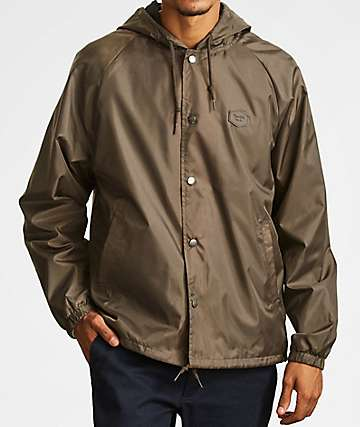 Brixton Hark Grey Windbreaker Jacket