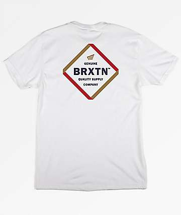 Brixton Peabody White T-Shirt