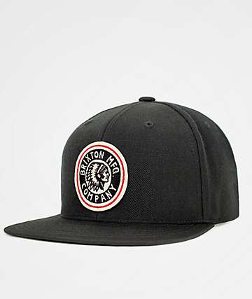 Brixton Rival Black & Off White Snapback Hat