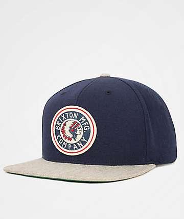 Brixton Rival Navy Snapback Hat
