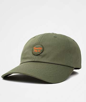 Brixton Wheeler Olive & Orange Dad Hat
