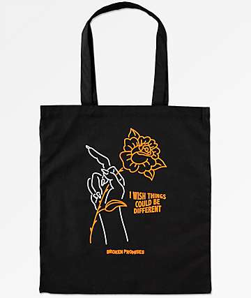 Broken Promises Could Be Different Black Tote Bag