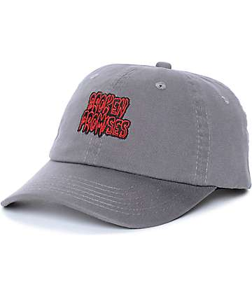 Broken Promises Creep Grey Washed Strapback Hat