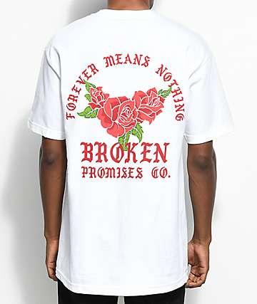 Broken Promises Forever Means Nothing White T-Shirt
