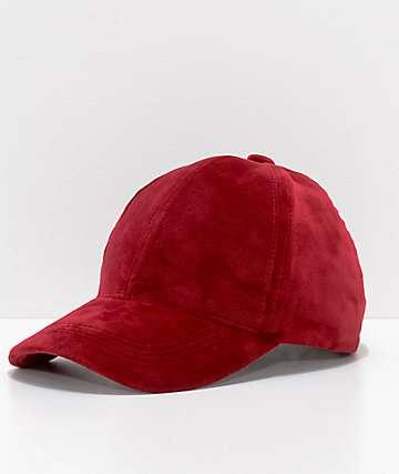 Burgundy Velvet Dad Hat