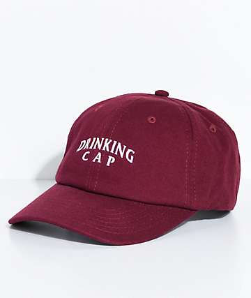 By Any Memes Drinking Cap Maroon Dad Hat