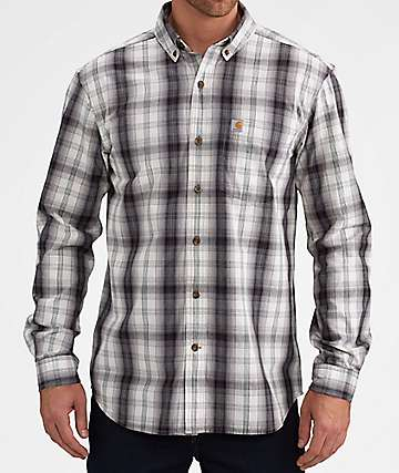 Carhartt Essential Black & White Flannel Shirt