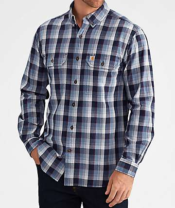Carhartt Fort Navy & Red Flannel Shirt