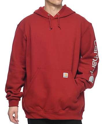 Carhartt Signature Crimson Hoodie