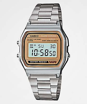 Casio A158 Vintage Silver Digital Watch