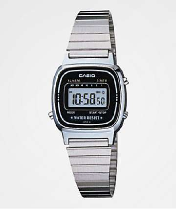Casio LA670 Vintage Silver Digital Watch