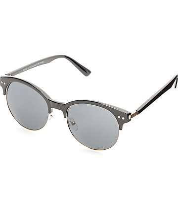 Catty Retro Black & Gold Sunglasses
