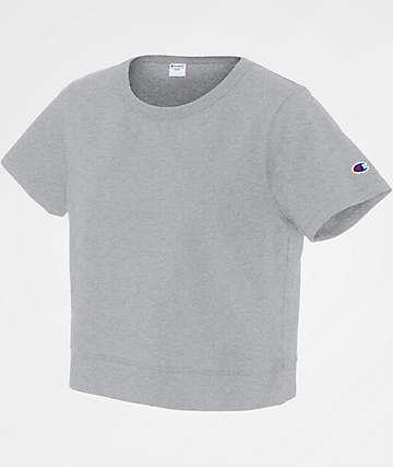 Champion Cropped Oxford Grey T-Shirt