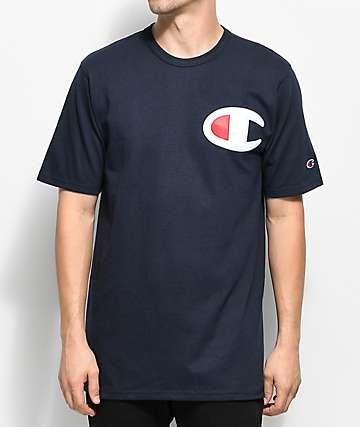 Champion Heritage Big C Navy T-Shirt