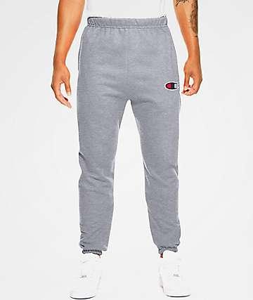 Champion Reverse Weave Big C Oxford Grey Sweatpants
