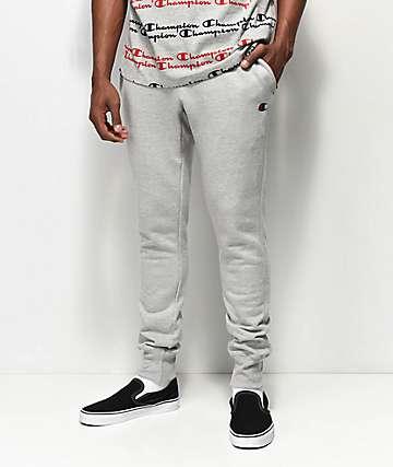 Champion Reverse Weave Small Logo Oxford Grey Sweatpants