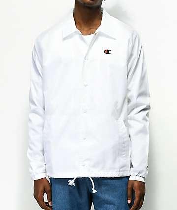 Champion USA White Coaches Jacket