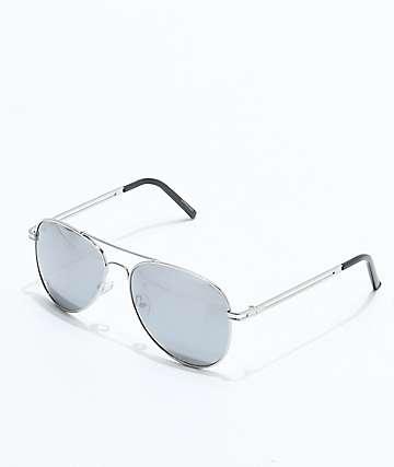 Chip Aviator Silver Sunglasses