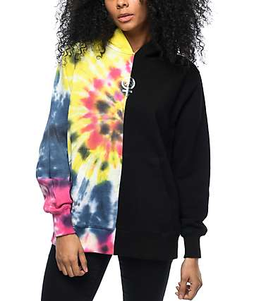 Civil Baddies Tour Split Seam Tie Dye Hoodie