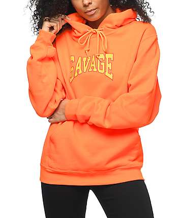 Civil Savage Orange Hoodie