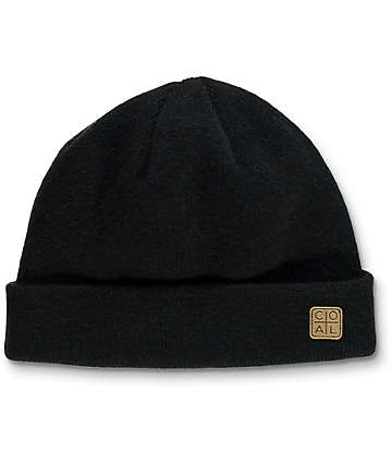 Coal The Harbor Black Cuff Beanie