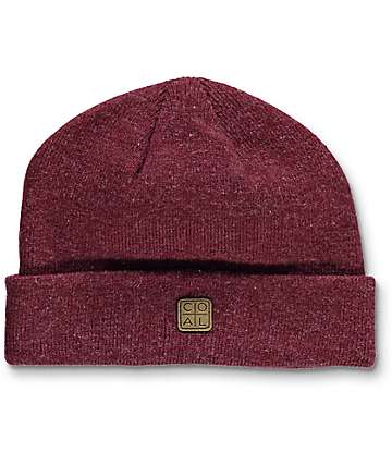 Coal The Harbor Burgundy Cuff Beanie