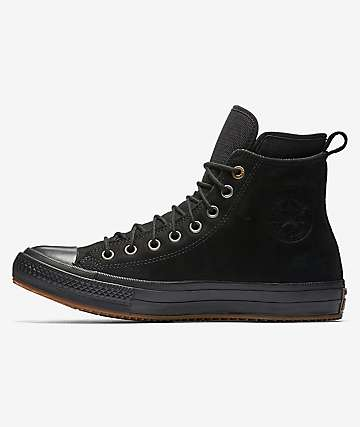 Converse Chuck Taylor All Star Black, Black & Gum Waterproof Boot