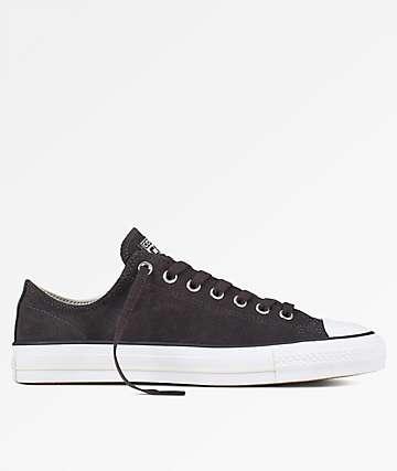 Converse Chuck Taylor All Star Pro Black, Egret & White Skate Shoes