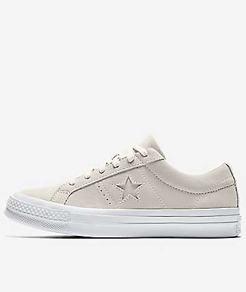 Converse One Star CC Suede Egret & White Shoes