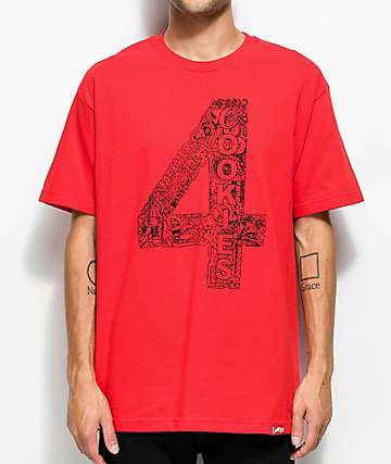 Cookies x 4 Hunnid Red T-Shirt