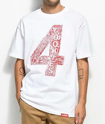 Cookies x 4 Hunnid White T-Shirt