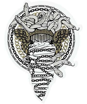 Crooks & Castles Medusa Chains Sticker