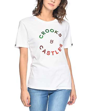 Crooks & Castles Polychromatic White T-Shirt